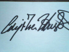 """ANGELICA HUSTON, Autographed 3""""X5""""  INDEX CARD with COA !!!  Excellant Cond. !!!"""