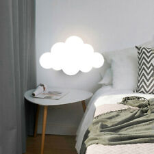 Modern Cartoon White Cloud Wall Mount Light Led Kid's Room Wall Sconce Fixture
