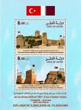 TURKEY 2018, JOINT STAMP OF TURKEY-QATAR, FLAG, CASTLES, (QATAR) MNH