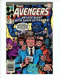 Avengers #239 1984 VF David Letterman Cover Beast and Black Panther! Hawkman
