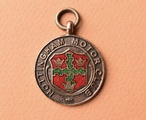 vintage Nottingham Motor club fob  1933 Night Trial medal Car Auto Collectable