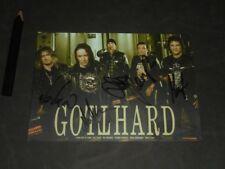 Gotthard - Autogrammkarte - signiert - Homegrown 2011 - signed - Hard Rock