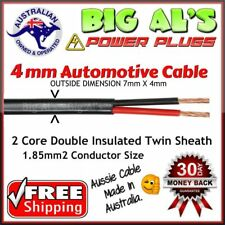 20 metre x 4mm Twin Core, Sheath Auto Automotive Dual Battery Cable Wire Trailer