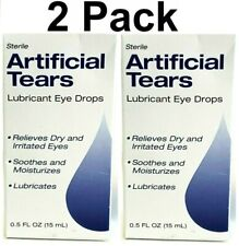 (2 in Factory Sealed Boxes) Sterile Artificial Tears Lubricant Eye Drops 3/2022