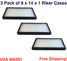 3 Pack of 8 x 14 x 1 Riker Display Cases Boxes for Collectibles Jewelry & More