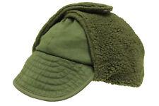 Genuine Danish Army Olive Green Winter Pile Cap Hat Grade 1