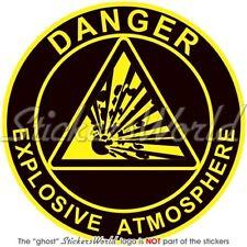 "EXPLOSIVE ATMOSPHERE Explosion Danger Warning Safety Sign Sticker-Decal 75mm(3"")"