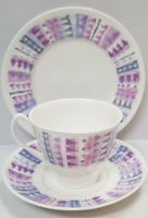 Vintage Shelley China Fiord Cup Saucer Plate c1945-66 Made in England Trio 14280