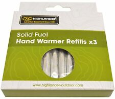 12 Solid Fuel Charcoal Handwarmer Refill Sticks Highlander   Winter -