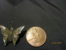 Estate Sterling Silver Mexico Abalone Butterfly Pendant Not Scrap