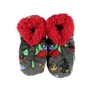 LazyOne Womens Happy Camper Fuzzy Feet Slippers Adult