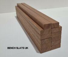 More details for 12 solid sapele hardwood garden bench slats 610mm  (2ft) 1 seater