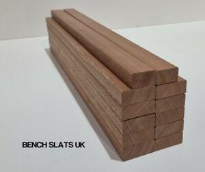 12 Solid Sapele Hardwood Garden Bench Slats 610mm  (2ft) 1 Seater