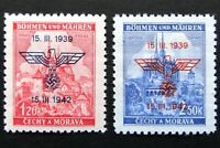 Germany Nazi 1939 1942 Stamps MINT Overprint Swastika Eagle Brno Cathedral at Pr