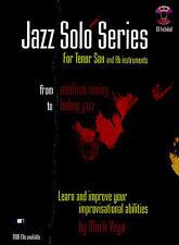 Mark Vega Jazz Solo B Flat Tenor Saxophone Sax Trumpet Music Book & CD