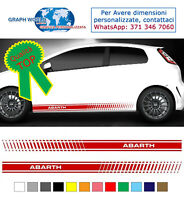 fasce adesive punto auto stickers tuning strisce fiancate laterali racing abarth