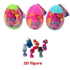 New Three TROLLS Surprise Eggs With 2D Figure, Sticker And Candy