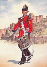 Military Art Postcard Drummer 3rd Battalion The Queens Regiment 1987 #33-6