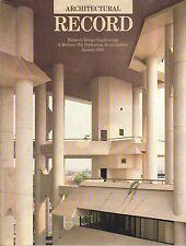 rivista - THE ARCHITECTURAL RECORD ANNO 1989 GENNAIO