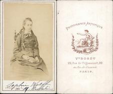 Bobst, Paris, Sophie Wolff CDV vintage albumen print.Sophie Wolff (1858-1918)