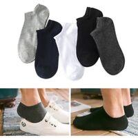US 5 Pair Men Low Cut Socks Cotton Loafer Breathable Casual Sport Short Socks