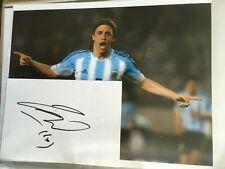 Hernan Crespo - Lazio, Inter, Chelsea & Argentina Signed Card & 10x8 Photo