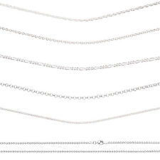 Womens Sterling Silver Fine Necklaces Chains For Girls Ladies Female - 925 STAMP