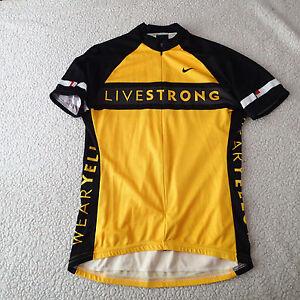 Nike Cycling Jersey Livestrong Lance Yellow  Women's sz m texas Tour de France 1
