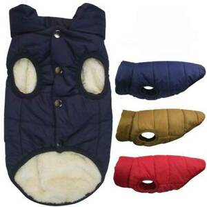 Fleece Lined Dog Jacket Warm Padded Vest Thicken Cotton Soft Pet Winter Coat YS