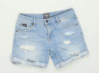 Womens Superdry Blue Denim Shorts Size W25/L5