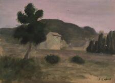 """Alfred Lesbros(1873-1940).Huile sur carton"""" Paysage"""". v352"""
