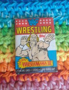 1987 Topps WWF Trading Card SEALED Pack - WWE WrestleMania III - Hulk Hogan