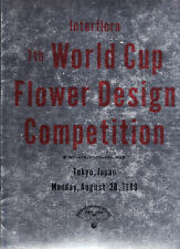INTERFLORA 7TH WORLD CUP FLOWER DESIGN  COMPETITION , TOKYO 1989  ikebana  dy