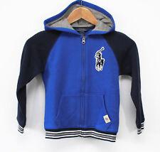 NEW* Boys Polo Ralph Lauren Big Pony Full Zip Hoodie Jacket Blue Sz 6- MSRP $49