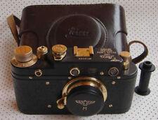 "Leica III ""M"" Marine copy black-gold in leather case (FED copy)"