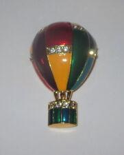 GLOBOS DE AIRE CALIENTE pin Oro Tono Cristal Detalles Brillante Colores Rojo