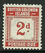 Album Treasures Solomon Islands Scott # J2  2p Postage Due  Mint Lightly Hinged