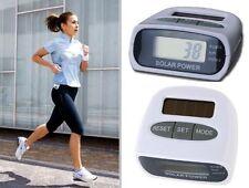 Contapassi Digitale LCD SOLARE Pedometro Fitness Sport Corsa Jogging Distanza