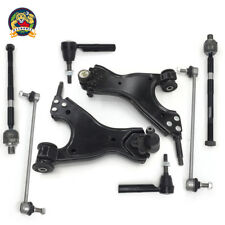 New 8pc Complete Front Suspension Kit Control Arms Tie Rod Sway Bar Ball Joints