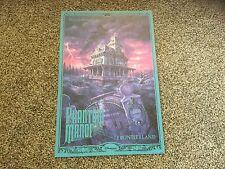 "New Disney Poster.  12"" X 18"".  Phantom Manor. Frontierland. Disneyland Paris."