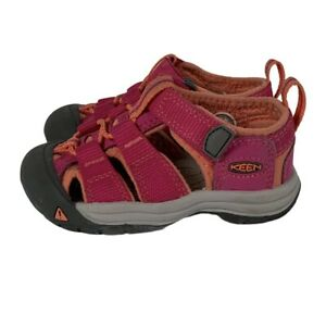 KEEN TODDLER Girls Size US 5 Waterproof Shoes Pink And Salmon Unique EUC