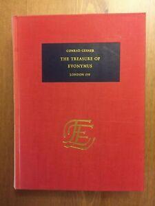 [ALCHEMY] Conrad Gesner THE TREASURE OF EUONYMUS 1559 EE Facsimile (1969) ex lib