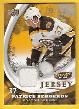 2008-09 Upper Deck UD Power Play Box Set Jersey Patrice Bergeron