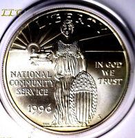 1996S COMMUNITY SERVICE BU COMMEMORATIVE 1 OUNCE SILVER DOLLAR 1OZ. 1996 S