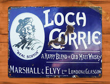 "TIN SIGN ""Loch Whisky""  Scotch Rustic Bar Whiskey Wall Decor"