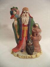 Vtg Santas of the Nations China Hand-painted Porcelain Figurine Lam Khoong 1991