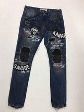 Iro-Ochi Saki Washed Jeans Size 32 X 32 Rare 100%AUTHENTIC blue savage