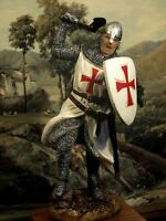 Hand Painted Medieval  Crusader Knight With Axe Figure Realistic Gift 16 cm/6.3""