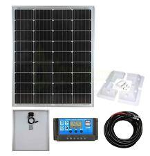 80w Mono Solar Panel Battery Charging Kit, Controller & Mounting Bracket Set K2