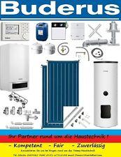 Buderus Gasbrennwert GB172 20 kW GAK-Abgassystem RC310 Regelung Solaranlage WW